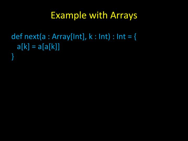 Example with Arrays