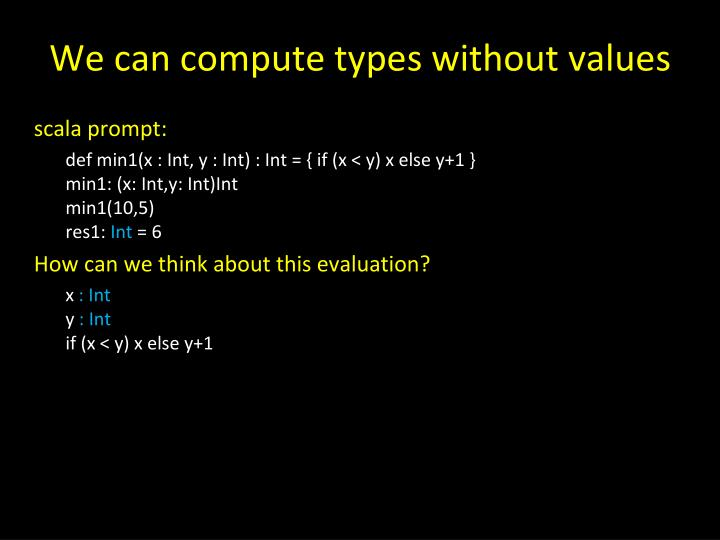 We can compute types without values