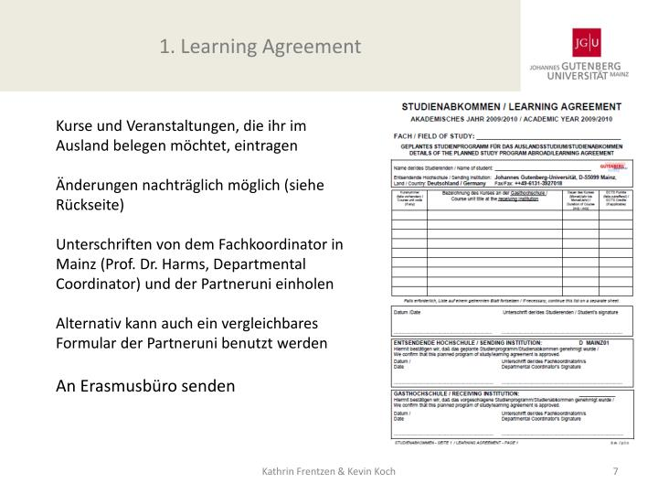 1. Learning Agreement