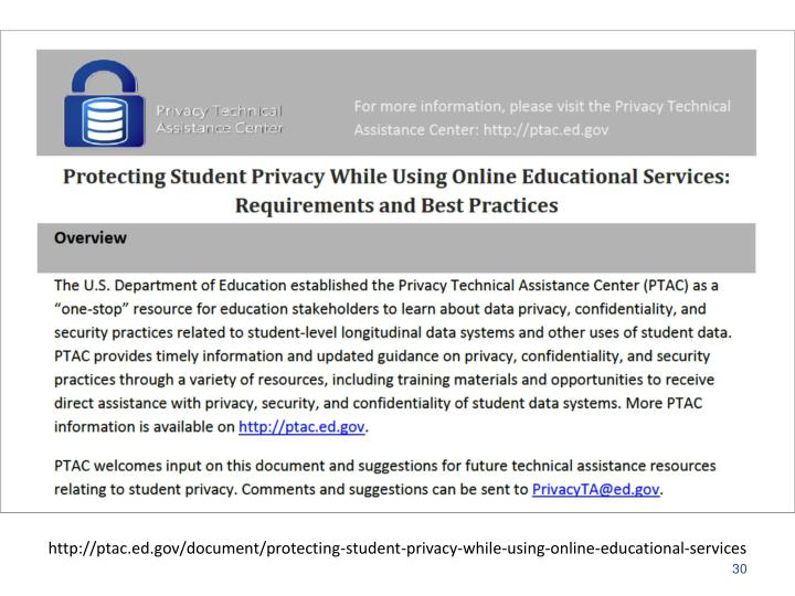 http://ptac.ed.gov/document/protecting-student-privacy-while-using-online-educational-services