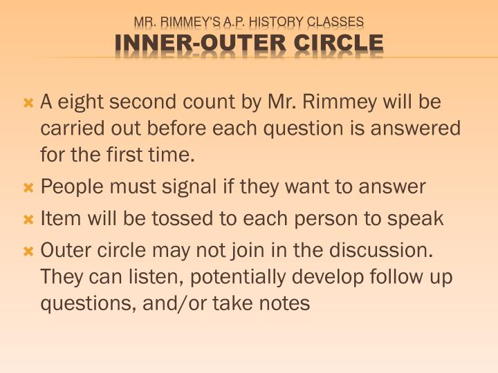 Mr rimmey s a p history classes inner outer circle1