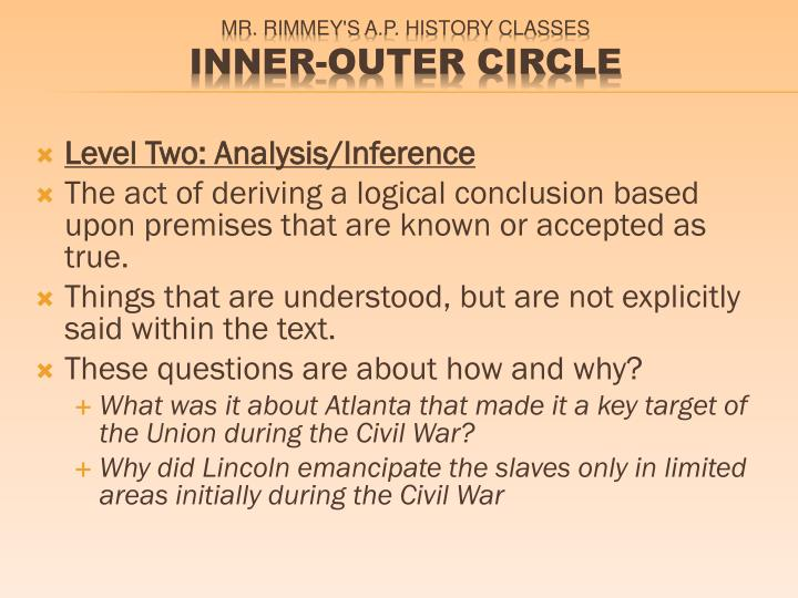 Level Two: Analysis/Inference