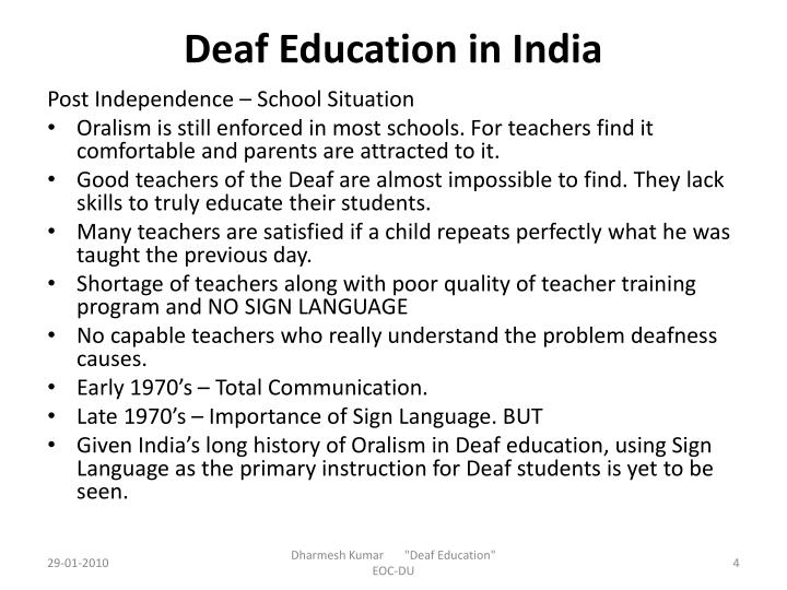 Deaf Education in India