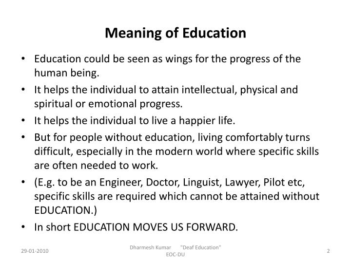 Meaning of education