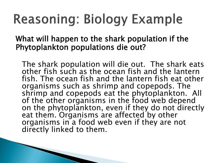 Reasoning: Biology Example