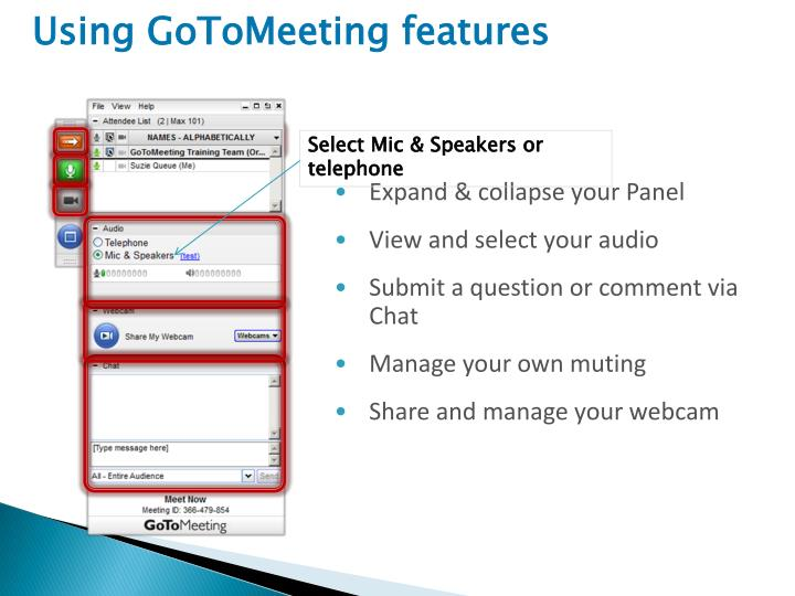 Using GoToMeeting features
