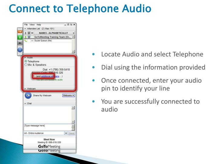 Connect to Telephone Audio