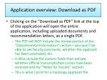 application overview download as pdf