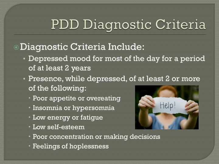 PDD Diagnostic Criteria