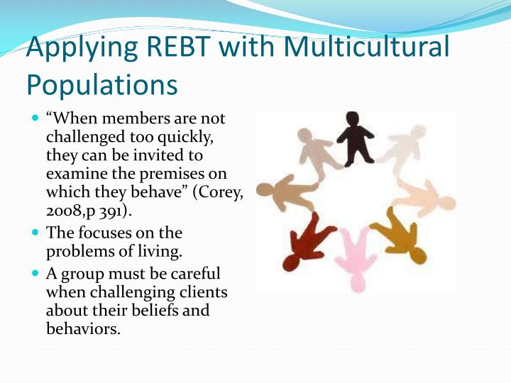 rational emotive behavior therapy Rational emotive behavioral therapy (rebt), developed by albert ellis in 1955 and originally called rational therapy, laid the foundation for what is now known as cognitive behavioral therapyrebt.