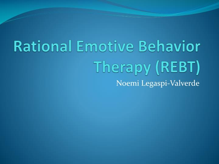 Behavioural therapy.