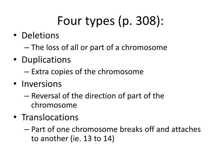Four types (p. 308):