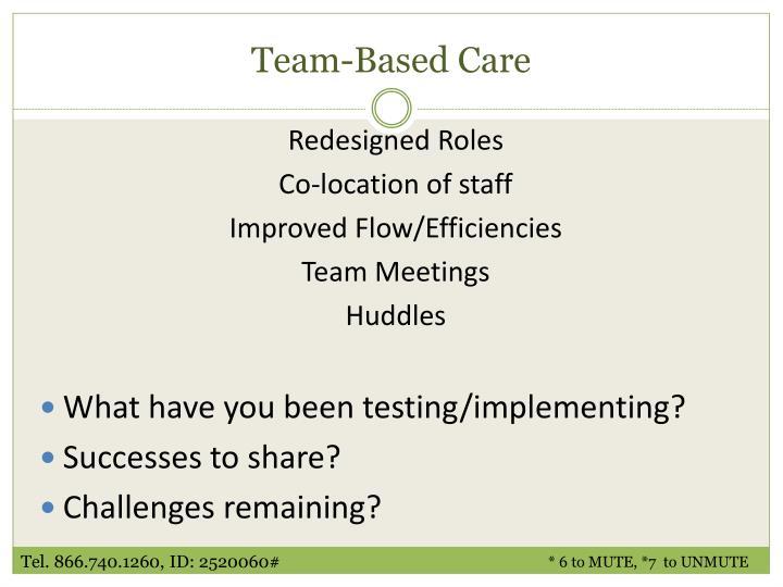 Team-Based Care
