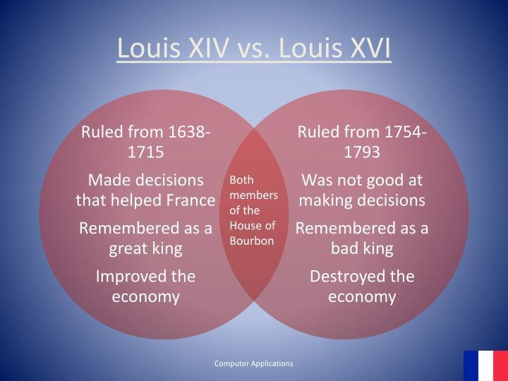 Louis XIV vs. Louis XVI