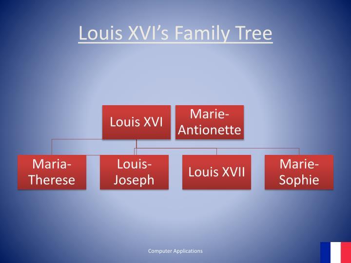 Louis XVI's Family Tree