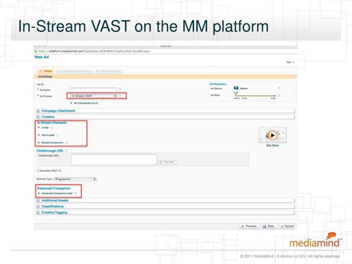 In-Stream VAST on the MM platform