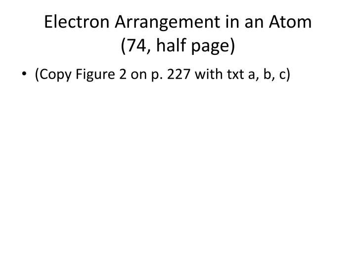 Electron Arrangement in an Atom