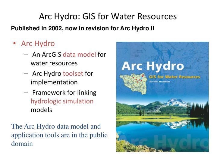 Arc hydro gis for water resources
