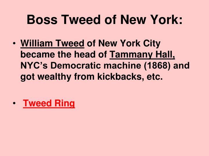Boss Tweed of New York: