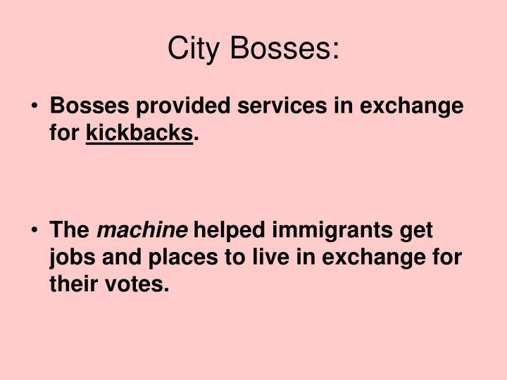 City Bosses: