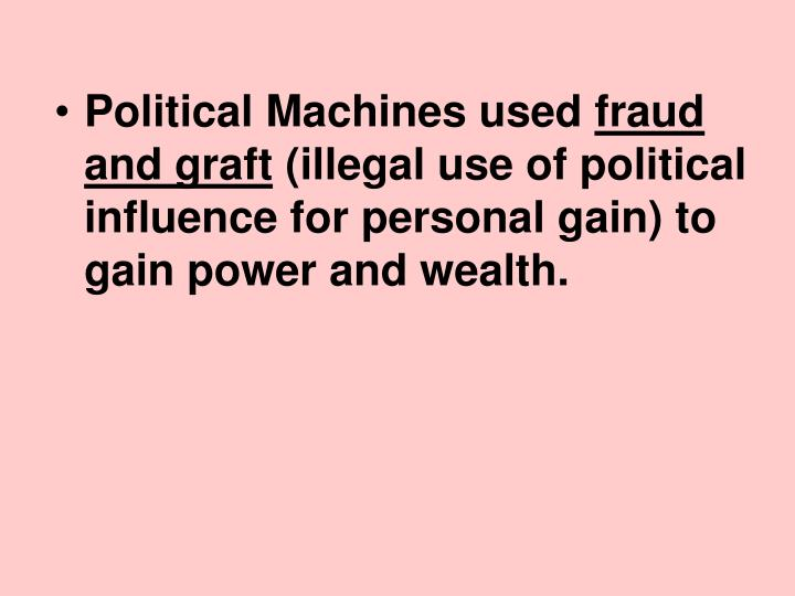 Political Machines used