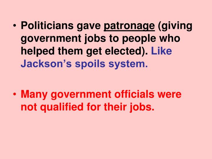 Politicians gave