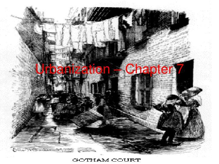 Urbanization – Chapter 7