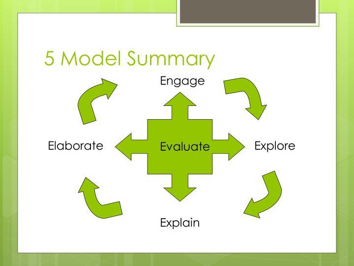 5 Model Summary