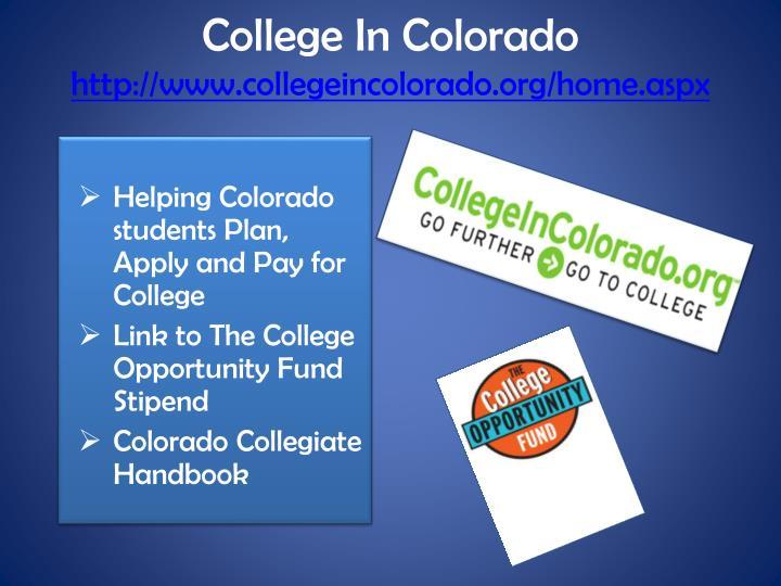 College In Colorado