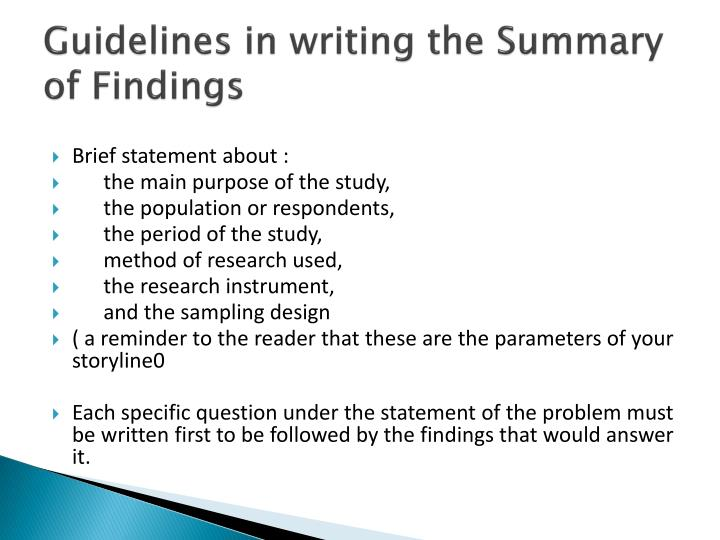 writing a summary paper