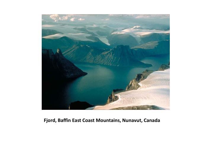 Fjord, Baffin East Coast Mountains, Nunavut, Canada