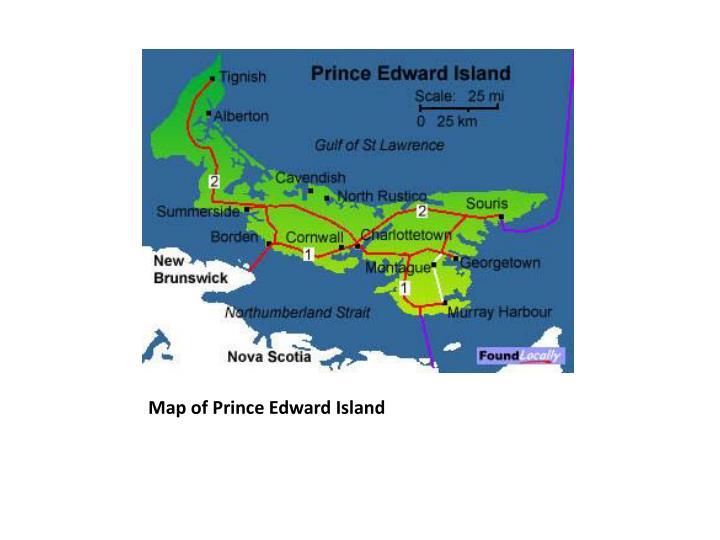Map of Prince Edward Island