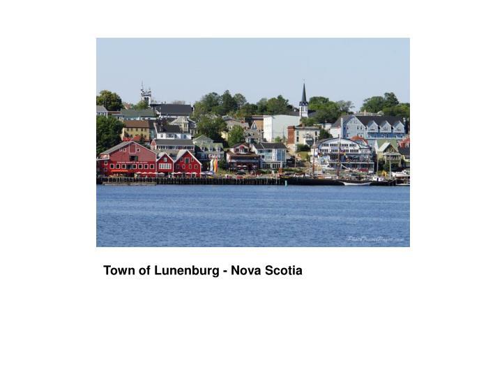 Town of Lunenburg - Nova Scotia