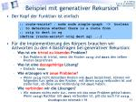 beispiel mit generativer rekursion1