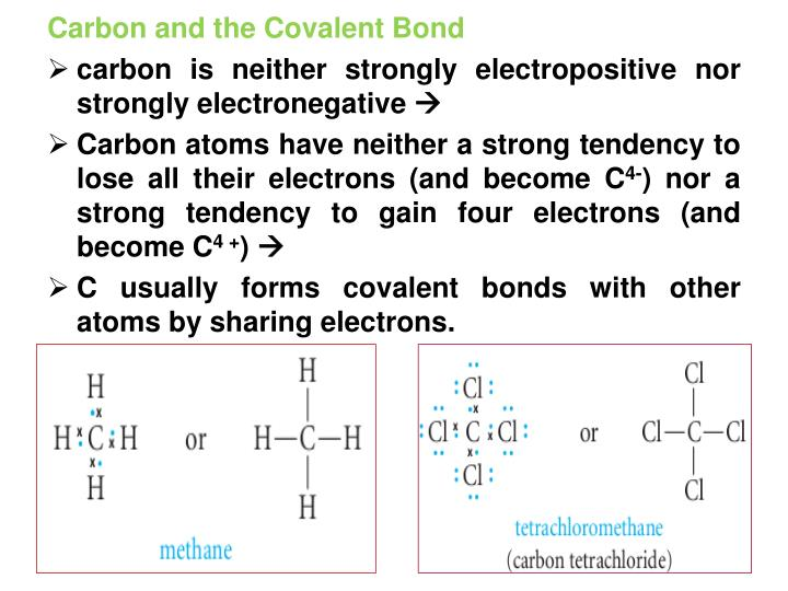 Carbon and the Covalent Bond