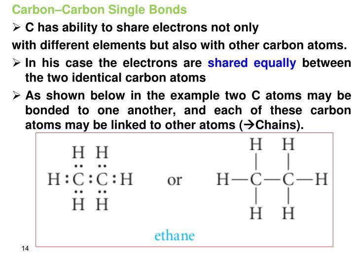 Carbon–Carbon Single Bonds