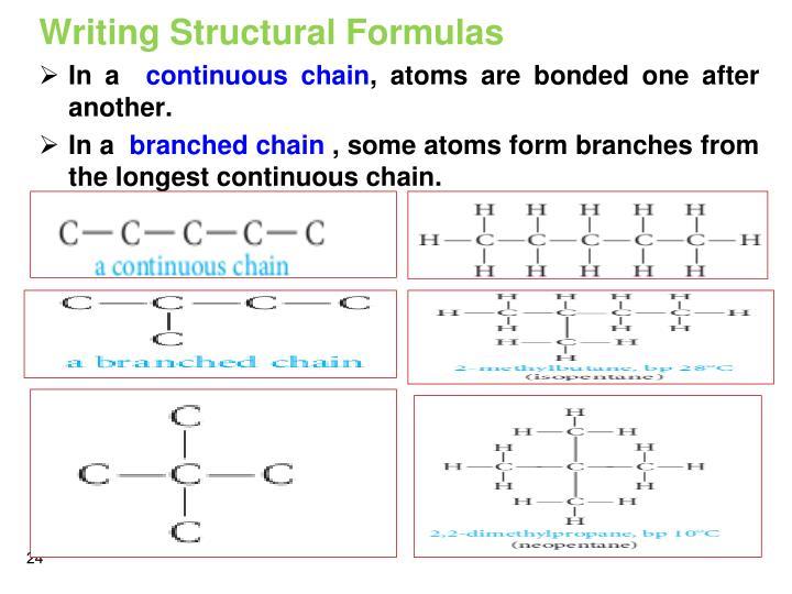 Writing Structural Formulas