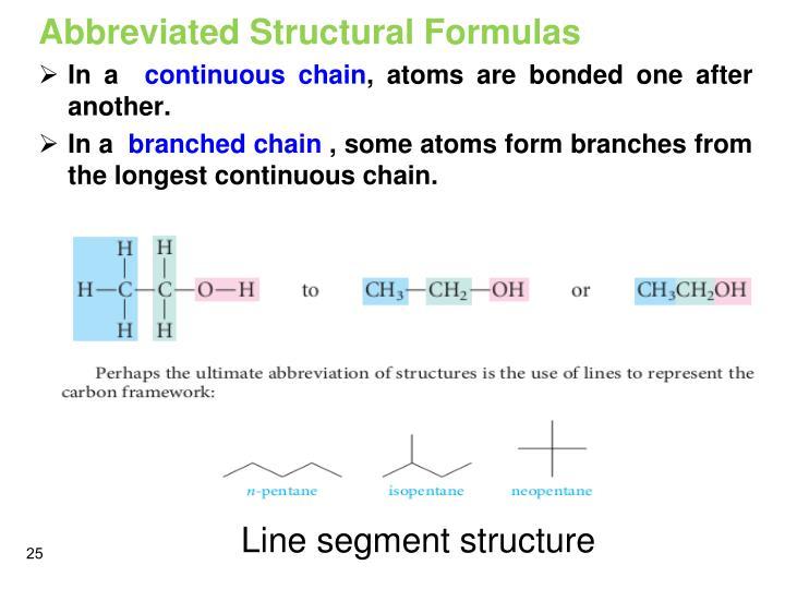 Abbreviated Structural Formulas