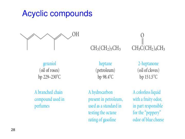 Acyclic compounds