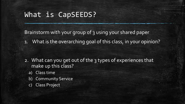 What is capseeds