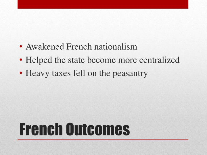 Awakened French nationalism