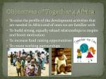 objectives of together 4 africa