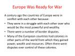 europe was ready for war