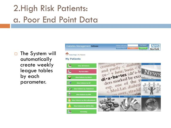 2.High Risk Patients: