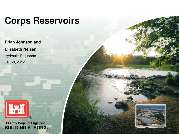 corps reservoirs n.