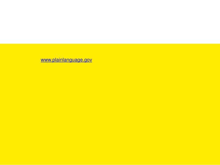 www.plainlanguage.gov