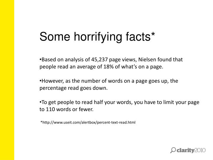 Some horrifying facts*