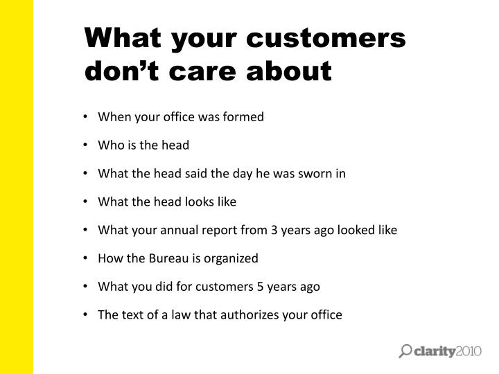 What your customers don't care about