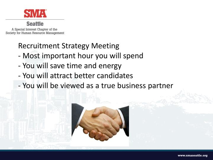Recruitment Strategy Meeting