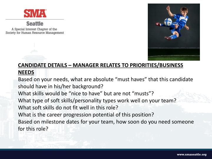 Candidate Details – Manager relates to